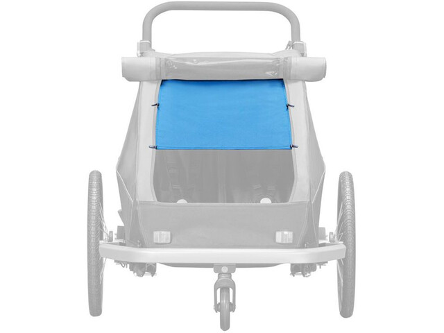 Croozer Osłona przeciwsłoneczna do Kid Plus / Kid for 2 Dzieci, ocean blue